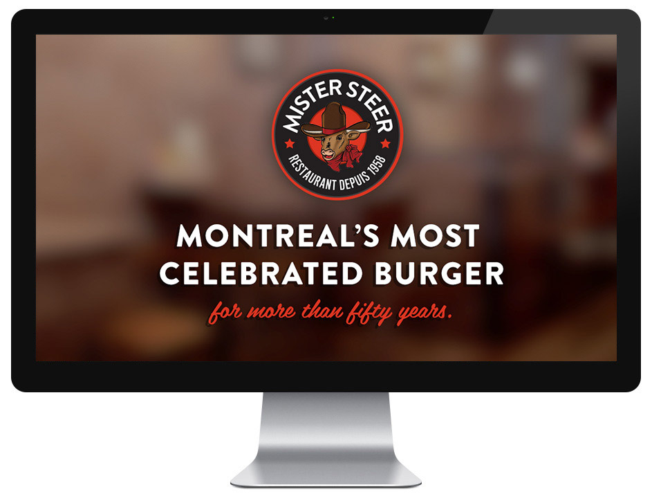 Website Design Mr Steer Montreal Burger Graphic Restaurant